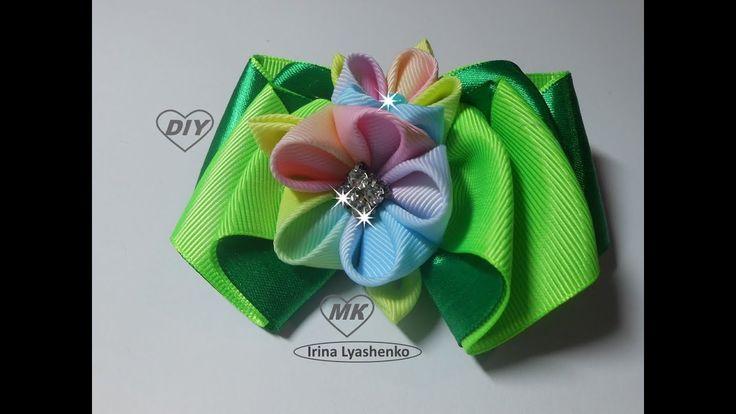 Бант из репсовой ленты МК/ Bow grosgrain ribbon DIY/ PAP Arco fita do gr...