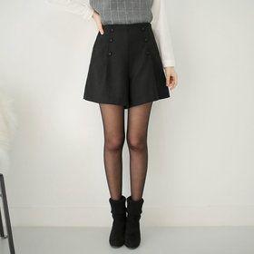 Gmarket - STYLEBERRY Button accent shorts / A-line / high wais...
