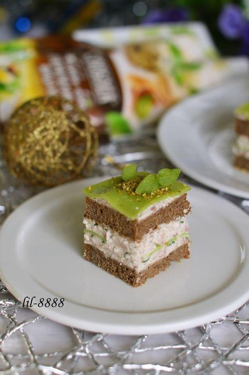 мини-сэндвичи из черного хлеба и печени трески. рецепт с фотографиями