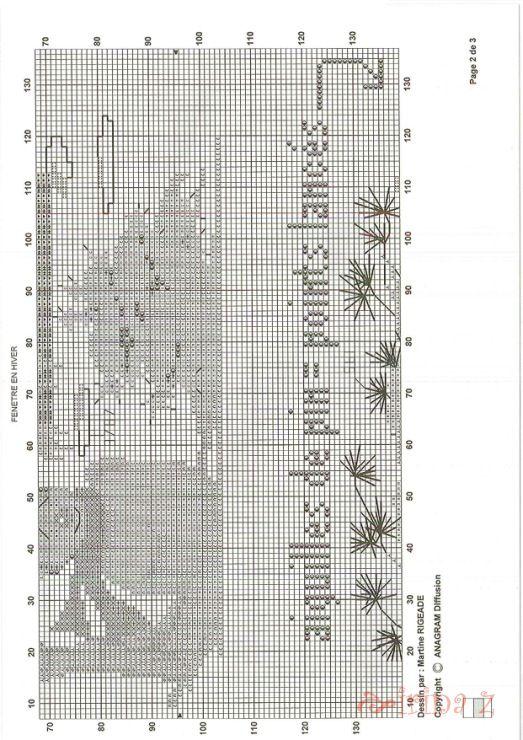 17 meilleures images propos de broderie point de croix for Fenetre hiver