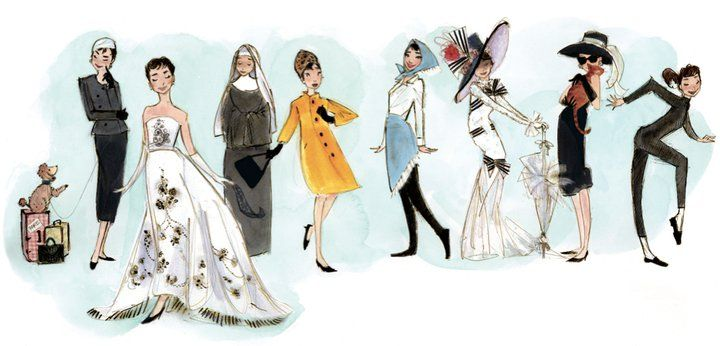 Beautiful illustration from the children's book Just Being Audrey.