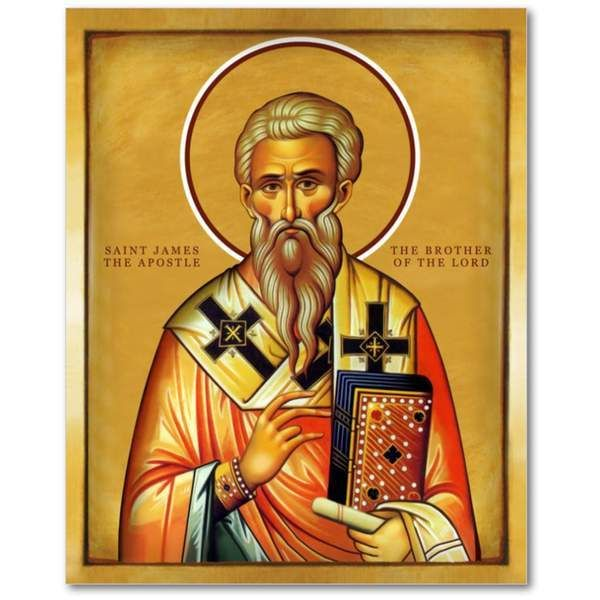 Saint James - The brother of the Lord - Icon - 5x7 in | James brother of  jesus, Orthodox icons, Early christian