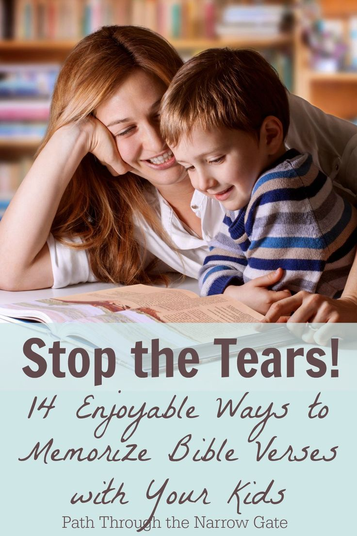 Scripture memory doesn't have to be stressful and frustrating. You can memorize Bible verses with your kids. These 14 ideas will transform Bible Memory into an enjoyable experience.