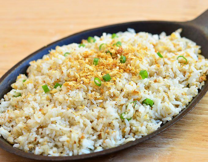 Sinangag is a fried rice flavored with loads of crisp garlic bits.