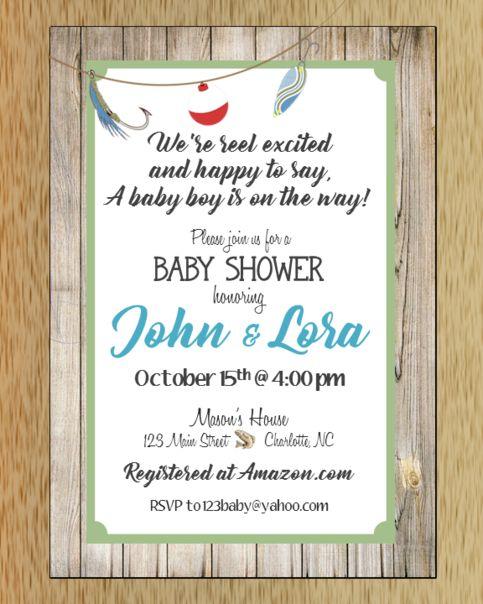 Fishing Baby Shower Invitation