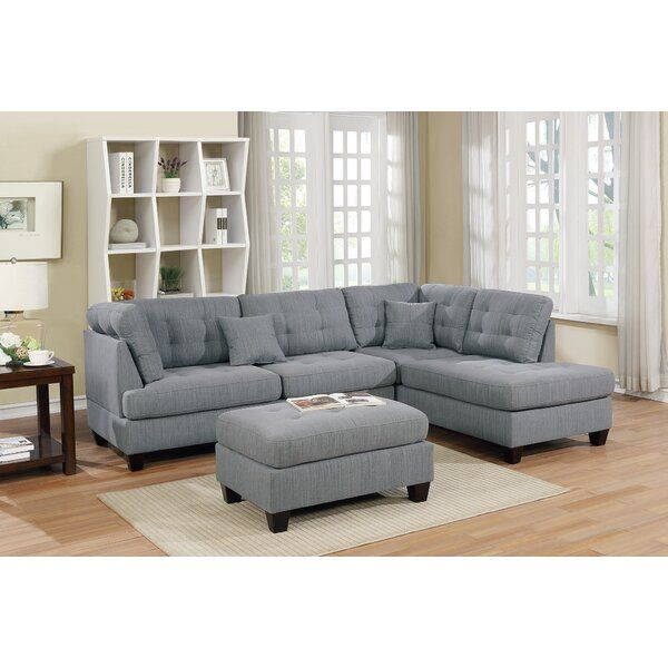 Tapscott 104 Reversible Sectional With Ottoman In 2020 Sectional Sofa Couch Sectional Sofa Furniture
