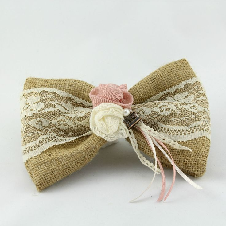 BomBom wedding favor with burlap and lace