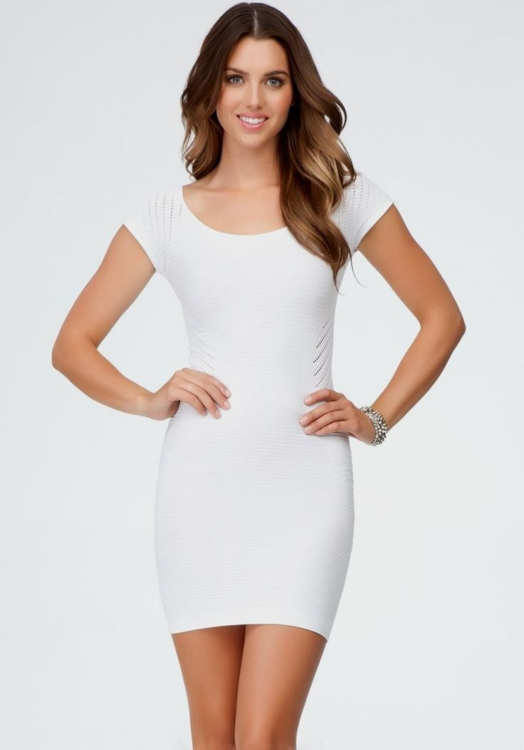 White Bodycon Dress With Sleeves