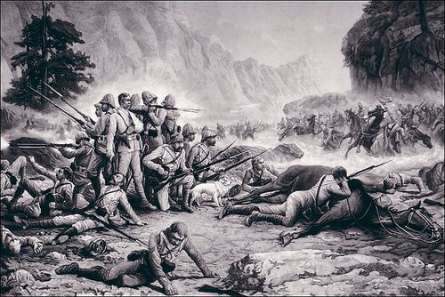 Afghans Sending The British Troops To Hell MAIWAND Afghan Anglo War