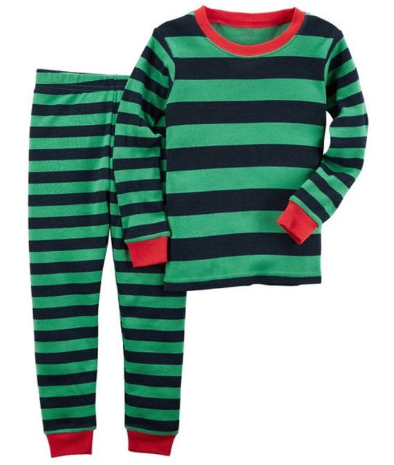 Boys Christmas pajamas by ClementineSouthern on Etsy