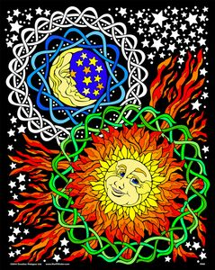 Sun Moon oh man I would have so much fun coloring this fuzzy poster