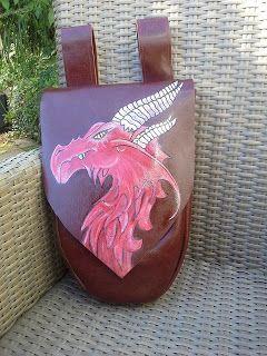 Millie Fleur: Leren tas met rode draak.