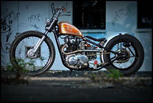 xs650 rigid brat bobber