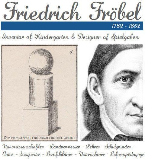 Fröbel - Friedrich Fröbel - Froebel - Begründer vom Kindergarten - Erfinder der Spielgaben