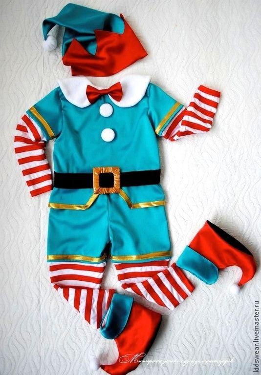 Купить Костюм Гномика - тёмно-бирюзовый, зеленый, костюм для мальчика, гном, гномик, костюм гнома