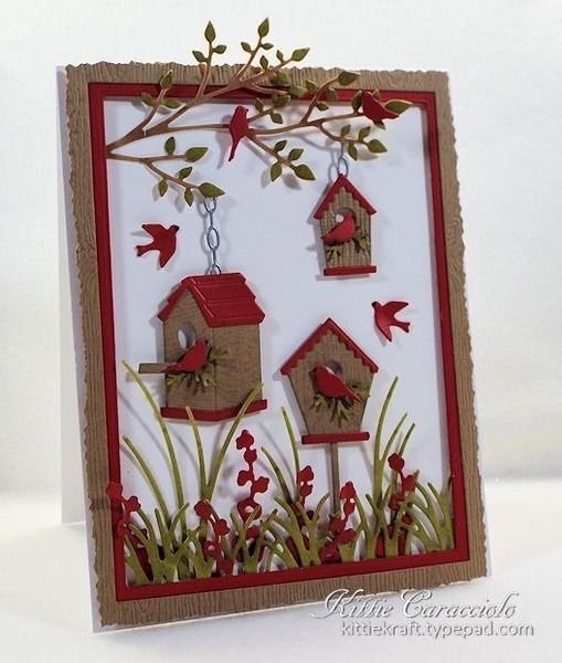 Birdhouse Village by kittie747 - Cards and Paper Crafts at Splitcoaststampers