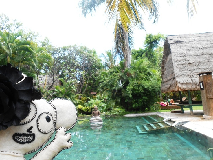at the pool, still north bali indonesia