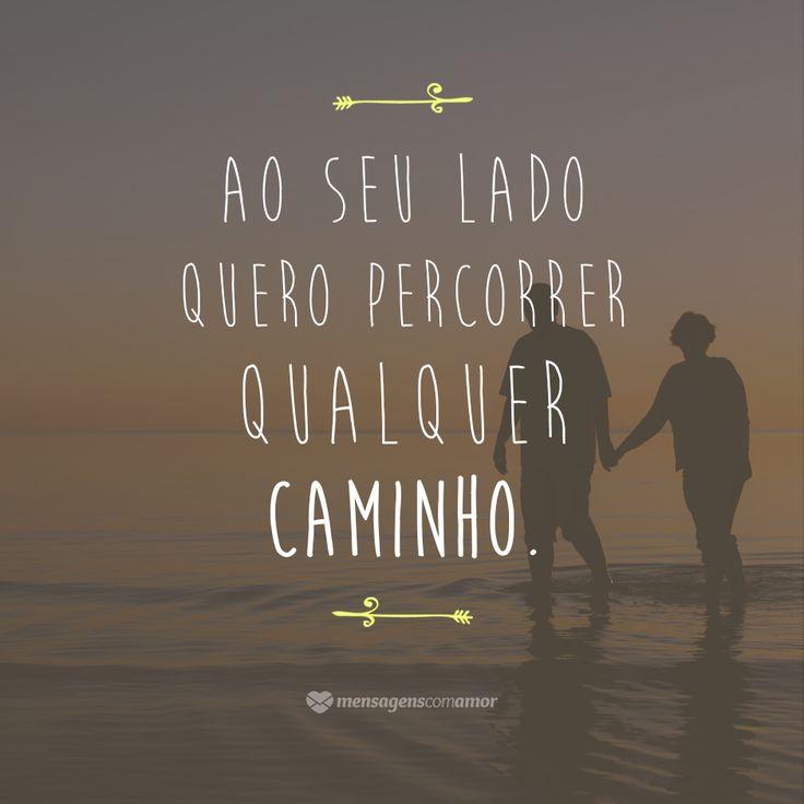 Quando as pessoas se amam de verdade, as dificuldades e o trajeto que elas vão percorrer não importam. O que vale é estar junto!