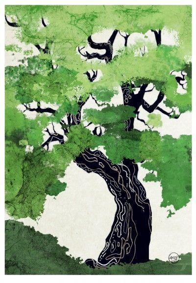The Oak (A study of trees) 50x70cm