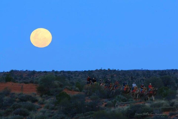 Super moon at Uluru