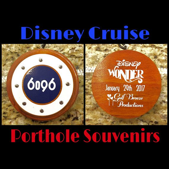 🌟EXCLUSIVE BUY🌟 Porthole Souvenirs As Seen On Sea Cruisers YouTube Vlog 🎬 Front side: 1) Personalized with any Stateroom Number (example 7126)  Back side: 2) Cruise Line and Ship (example Disney Magic)  3) Date(s) 4) Celebrating or Occasion (example: 1st Disney Cruise, Honeymoon, Anniversary, Halloween on the High Seas, Merrytime Christmas, Star Wars, Marvel, etc.) Approximate size is 4 in diameter.  Please allow 6-8 weeks to complete. No Rush Orders will be accepted at this time. Thank…