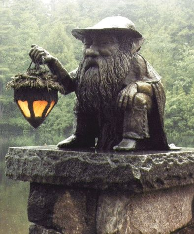 Little Gnome Light Statue for the Garden. i've never taken to gnomes for some…