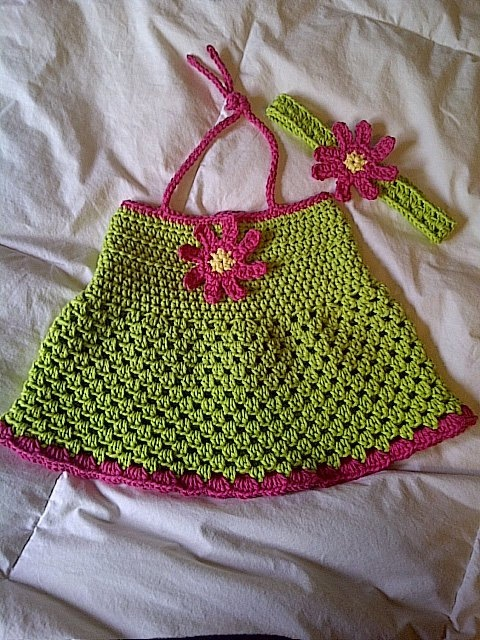 36m Strawberries and Lime Halter Dress & by TigerLiliesCreations, $25.00
