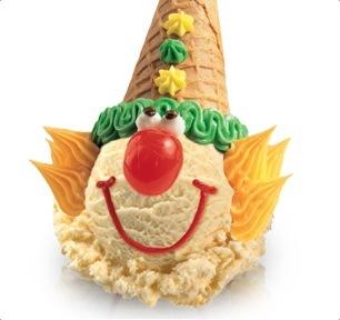 Baskin Robin clown cones.
