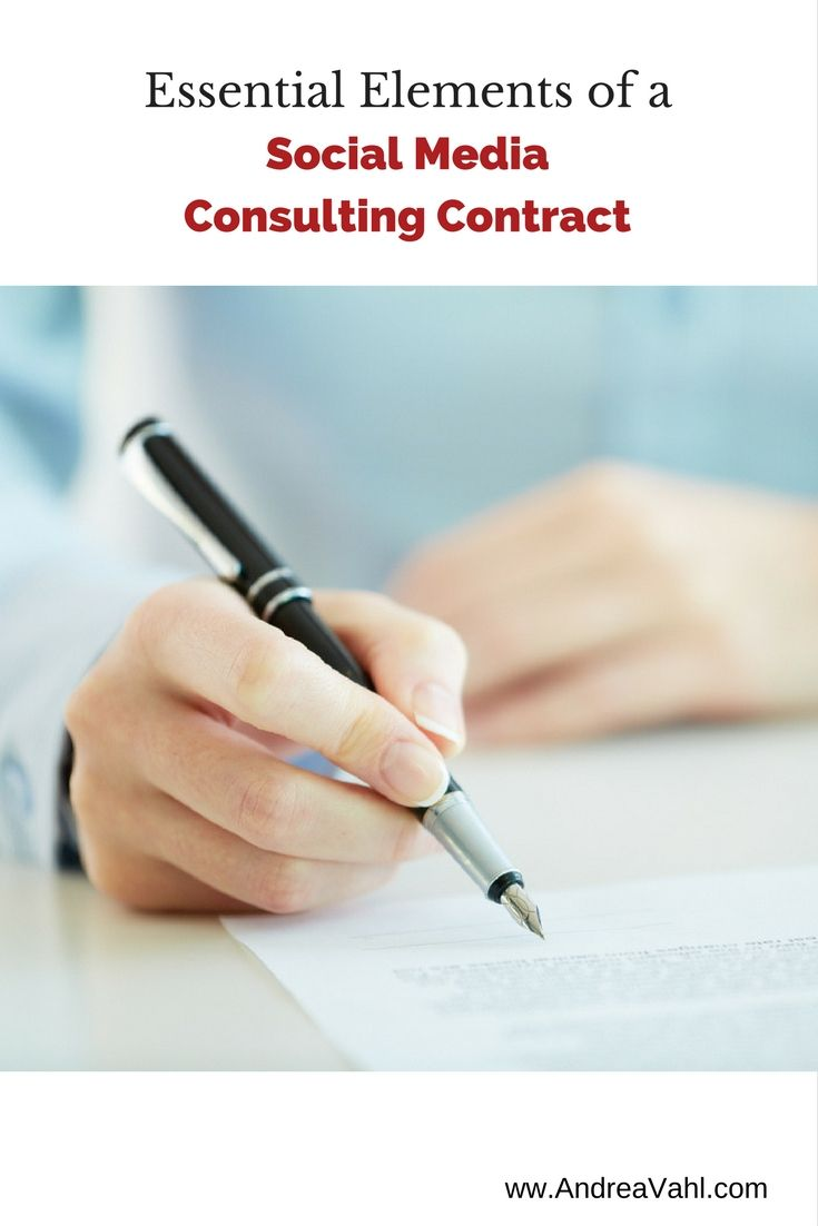 Essential Elements Of A Social Media Consultant Contract