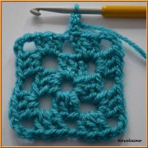 Tuto carré bleu, Classic Granny Square Pattern