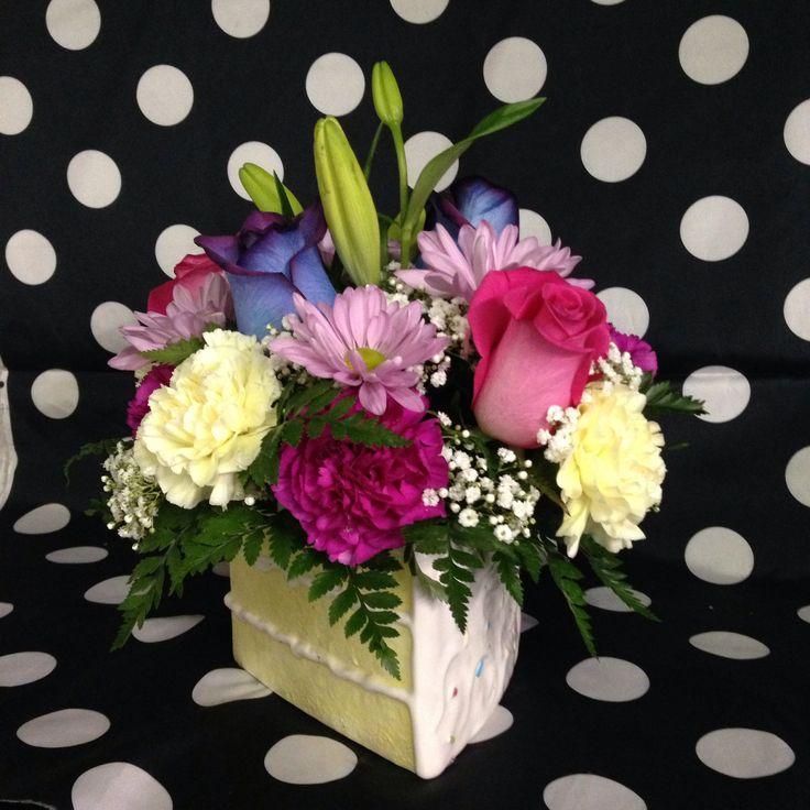 Happy Birthday Cake Bouquet Flower Arrangements Pinterest