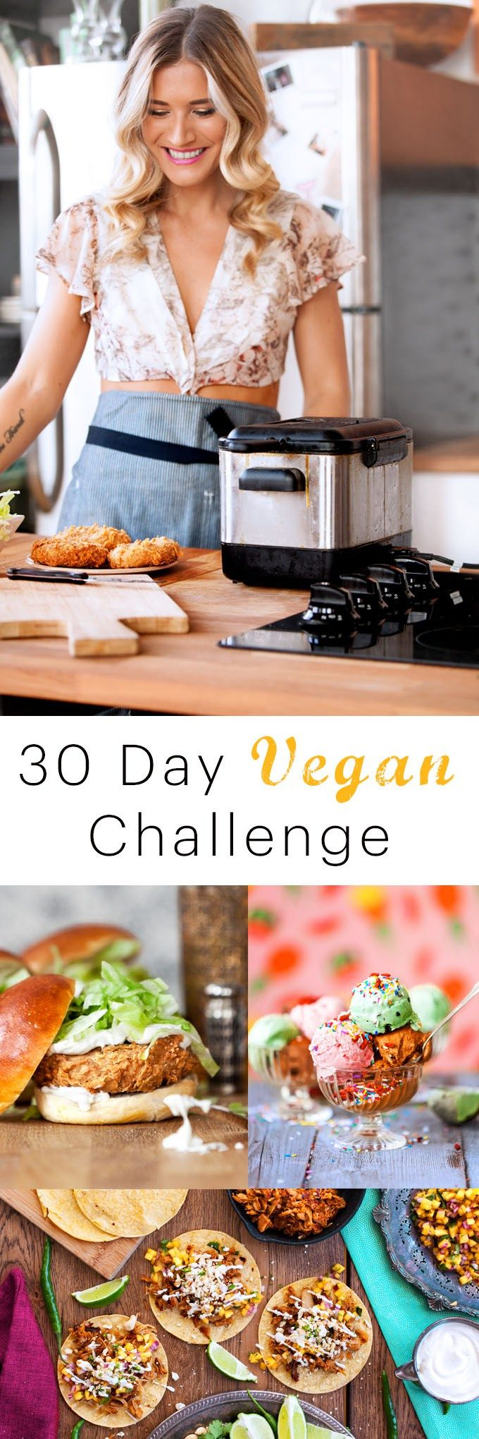 If you aren't a vegan, or even a vegetarian, it's important to give your body a break from meat and dairy every so often. The 30 day vegan challenge is a great way to find new ways to incorporate more vegetables and vegan protein into your diet, and will get you back into the kitchen, really thinking about what you are putting into your body.  30 days vegan chall