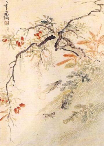 심사정 산수유 Shim Sajung 1707-1769 Josun Dynasty Korea