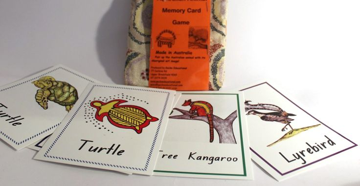 Australian Animal Memory Card Game