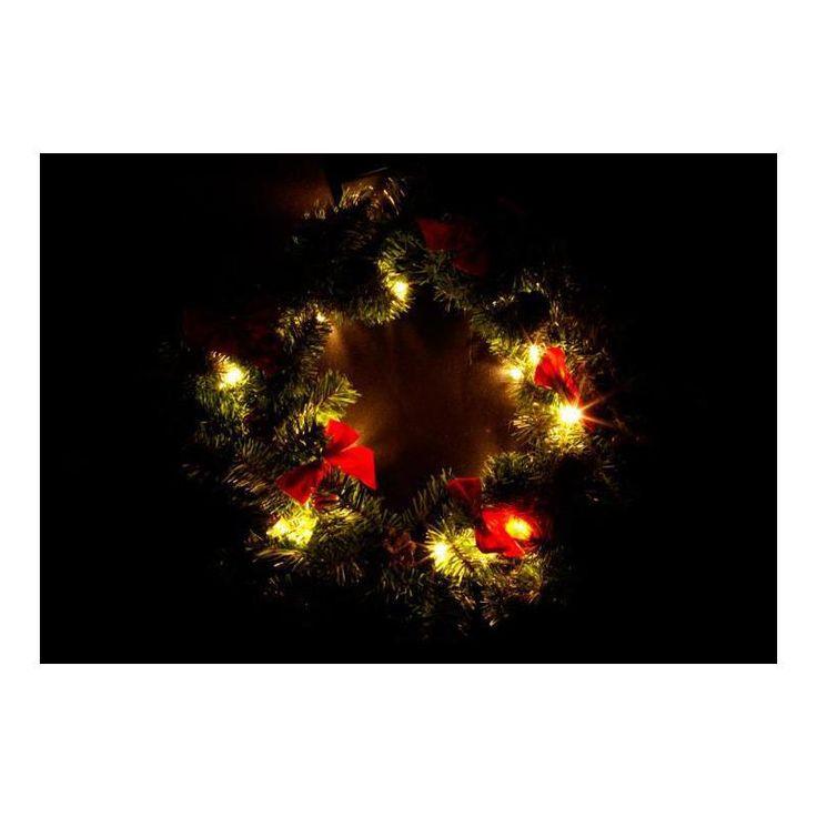 Vánoční věnec 20 LED, 40 cm, interiérový, na baterie - www.guge.cz