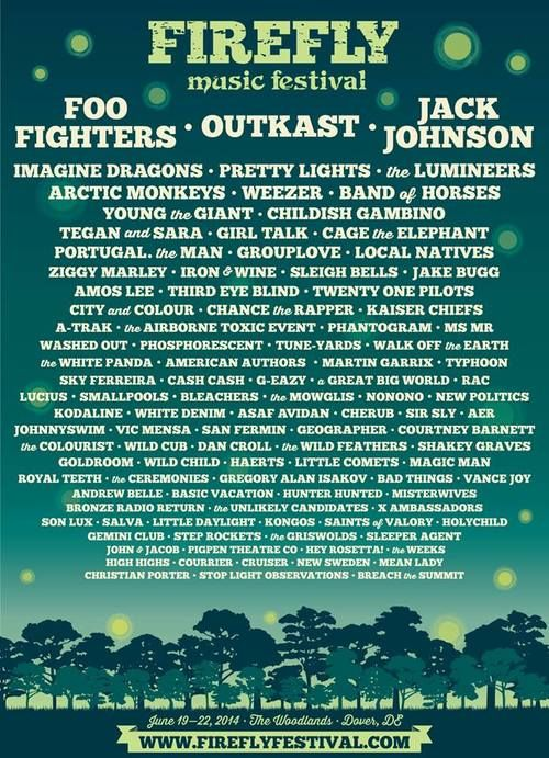 Firefly Music Festival lineup