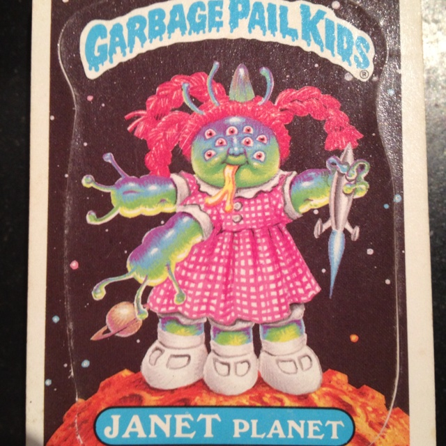 Found all my old Garbage Pail Kids cards,  hii-larious!