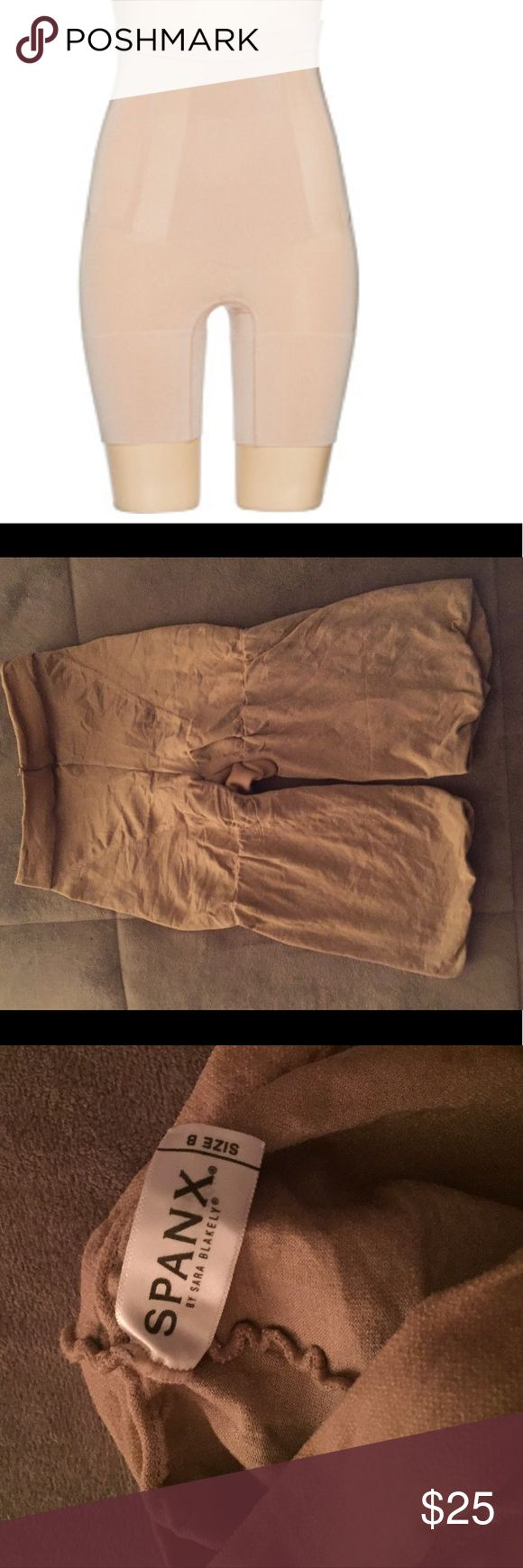 🎉New Spanx thigh butt stomach shape wear shorts New thigh butt and stomach shaping shorts these are the best of the best in shape wear these are authentic SPANX size B in nude I wear mine with everything including jeans smooths everything out and lifts everything up I never wore these I had to purchase the next size up these are NEW SPANX Intimates & Sleepwear Shapewear