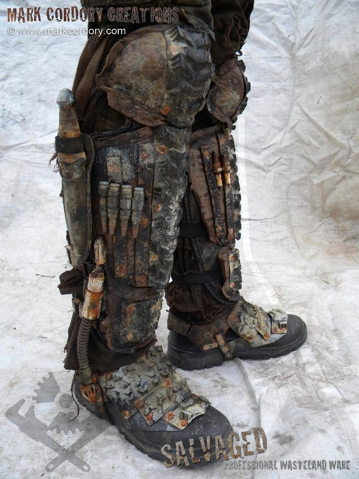 Post Apocalypse armour for LARP & Airsoft. SALVAGED Ware by Mark Cordory Creations - enquiries always welcome www.markcordory.com