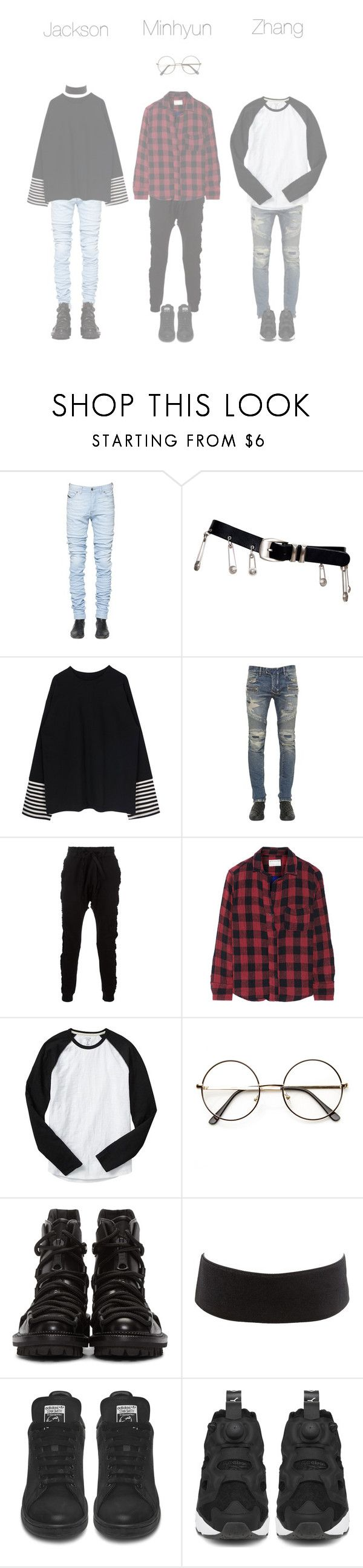 """""""Movie marathon with Nara"""" by offighter ❤ liked on Polyvore featuring Diesel Black Gold, Versace, Balmain, Blood Brother, rag & bone, Gap, ZeroUV, Dsquared2, Charlotte Russe and Reebok"""