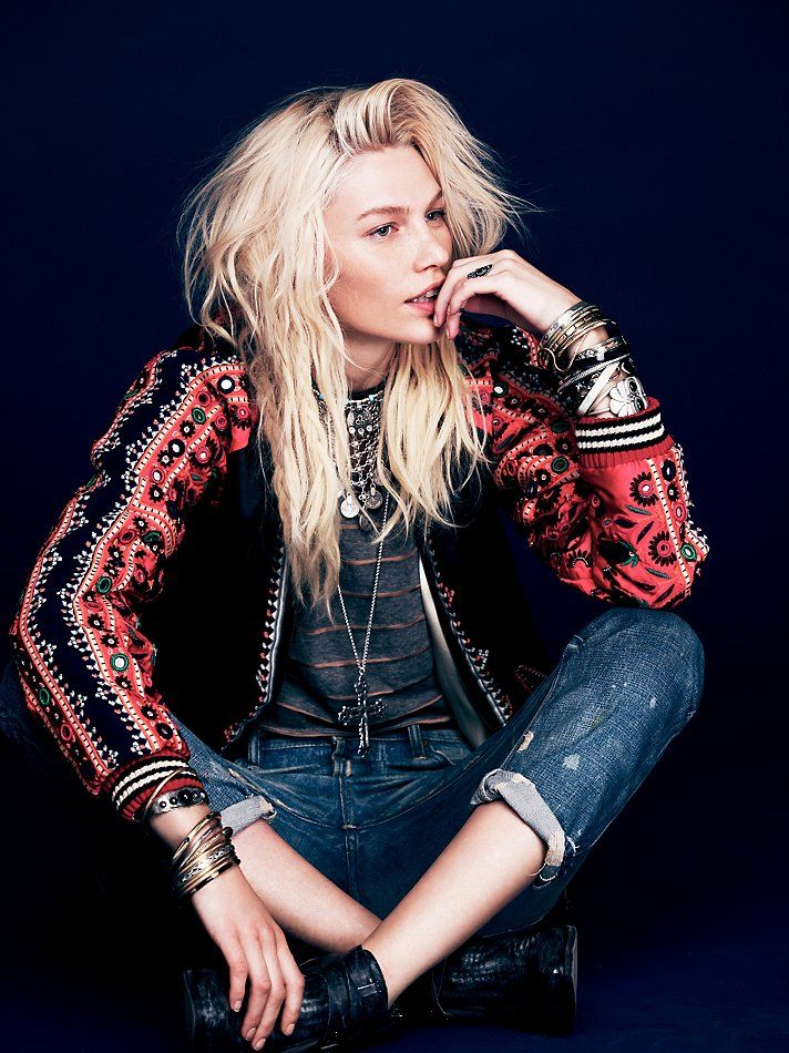 Free People FP New Romantics Carnival Baseball Jacket at Free People Clothing Boutique