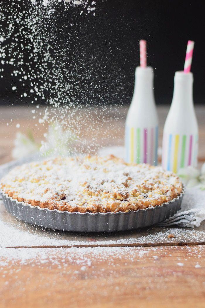 Himbeer-Crumble-Tarte mit Vanille-Creme - Raspberry Crumble Tarte with vanilla custard #summer #raspberries #tarte   Das Knusperstübchen
