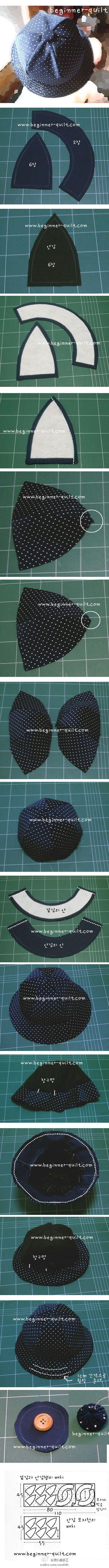 Como hacer sombrero redondo paso a paso