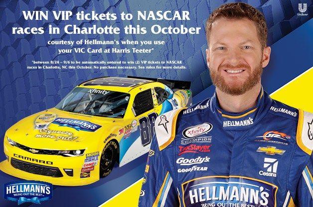 Harris Teeter VIP NASCAR Giveaway Sweeps Details and Info - http://couponsdowork.com/harris-teeter-ad/harris-teeters-ultimate-nascar-experience-giveaway/