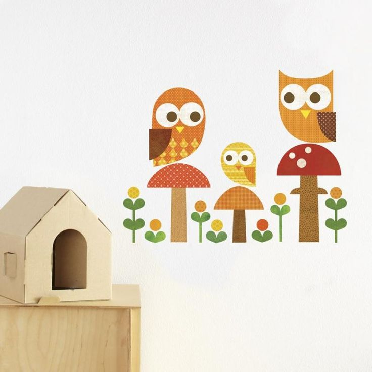 The 19 best petit collage kids decor images on pinterest babies owl family removable wall decal petit collage for sale by little shop of treasures gumiabroncs Choice Image