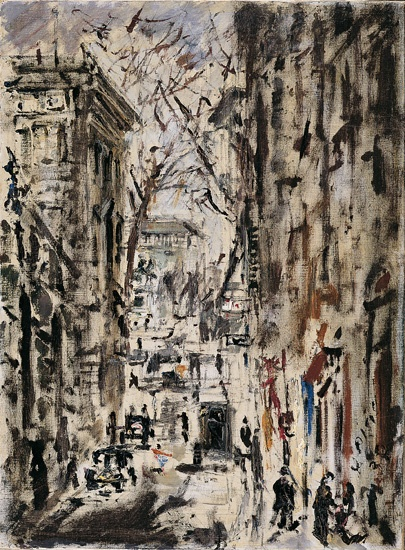 Filippo de Pisis (Ferrara 1896 - Milano 1956) Strada di Parigi