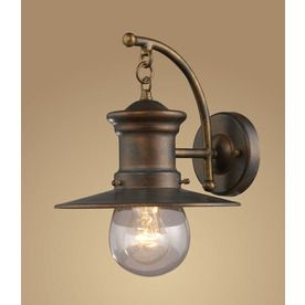 Westmore Lighting Del Mar 12-In H Hazelnut Bronze Outdoor Wall Light O