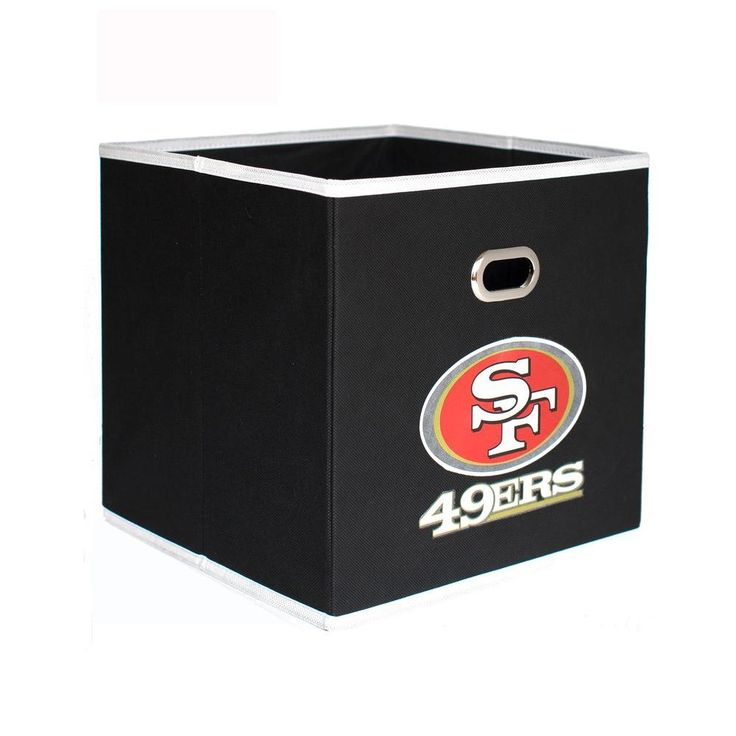San Francisco 49ers NFL Store-Its 10-1/2 in. W x 10-1/2 in. H x 11 in. D Black Fabric Drawer