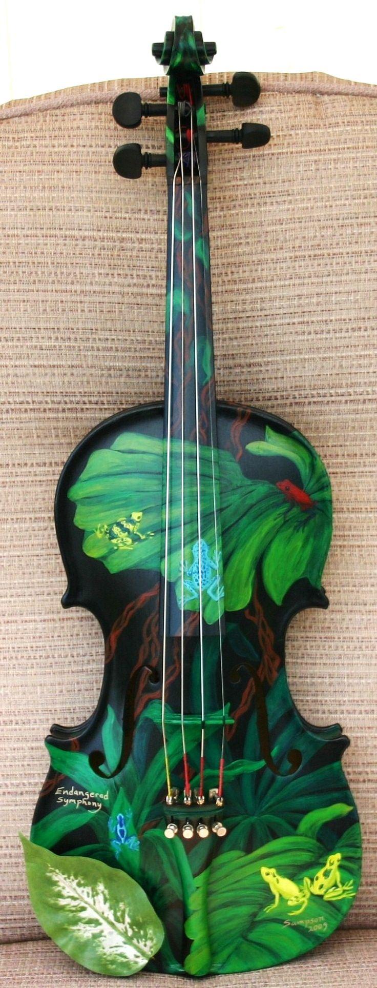 Best 10 painted guitars ideas on pinterest guitar art for Violin decorating ideas