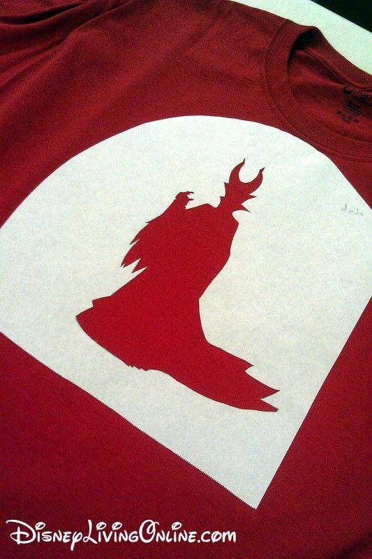 741 best disney svg images on pinterest silhouettes for Diy disney shirt template